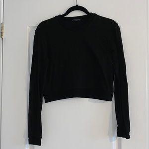 Brandy Melville Black Cropped Sweater